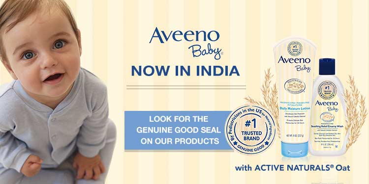 Baby Care Range by Aveeno with ActiveNaturals now in India